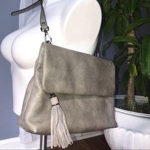 Mod Luxe Gray Adjustable Crossbody tassel Bag
